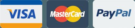 We accept Visa, Mastercard & Paypal
